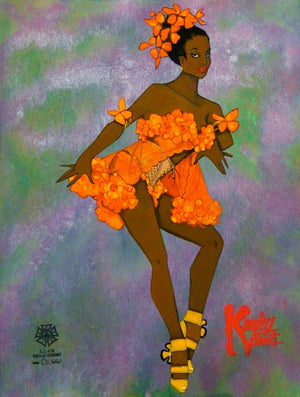 "'Kinky Boots""- Orange Flower Costume Sketch By Gregg Barnes"