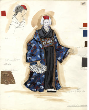 MADAME BUTTERFLY  'Grandmother' Costume Sketch by Florence Klotz