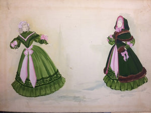 Summer And Smoke Original Lloyd Evans Costume Sketch, Nyc Opera