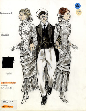 SHOW BOAT - Captain Andy with Girls -Tony Award winning costume design by Florence Klotz