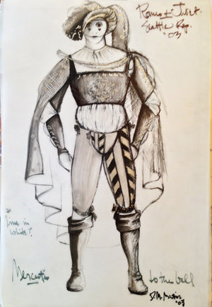 """Romeo And Juliet"" Tybalt Costume Sketch By David Murin"
