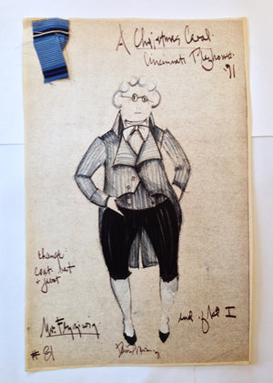 """A Christmas Carol"" Fezziwig Costume Sketch, David Murin"