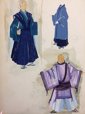 Madame Butterfly  Original Lloyd Evans Costume Sketch, Nyc Opera