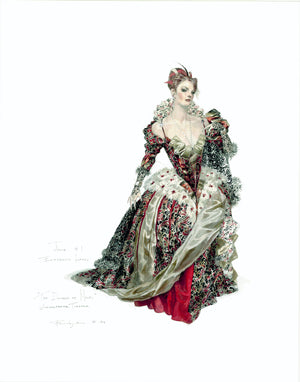 "Robert Perdziola  Julia Red, Dress, ""The Duchess Of Malfi"""