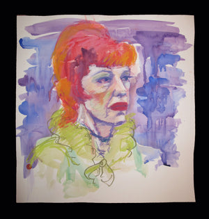 Lotte Lenya - Pastel And Watercolor By Charles Busch