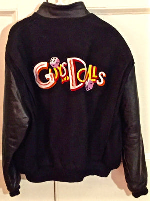 """Guys And Dolls"" Show Jacket (Black) ""Gw"" 1992 Bway Revival"