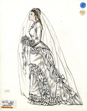 SHOW BOAT - Magnolia's Wedding Dress -Tony Award Winning Costume Design by Florence Klotz