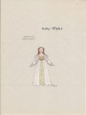 EVER AFTER - Margo Siebert as 'Danielle' Original Sketch by Jess Goldstein