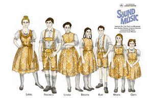 "'The Sound Of Music"" Von Trapp Children Costumes By Court Watson"