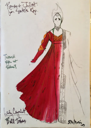 """Romeo And Juliet"" Lady Capulet Ball  Sketch By David Murin"