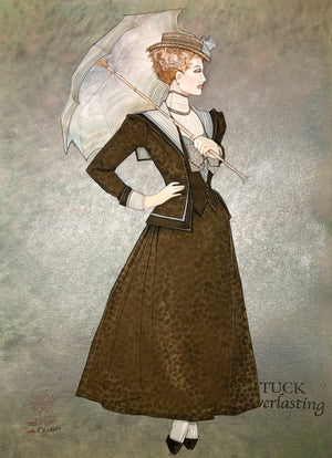 """Tuck Everlasting"" Victorian Lady Costume Sketch By Gregg Barnes"