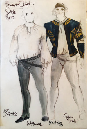 """Romeo And Juliet"" Romeo Costume Sketch By David Murin"