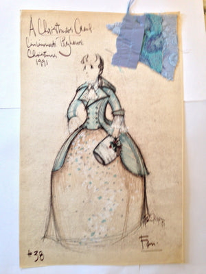 """A Christmas Carol"" Fan Costume Sketch, David Murin"