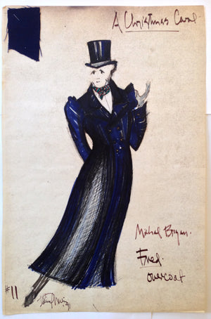 """A Christmas Carol"" Fred W Overcoat Costume Sketch, David Murin"