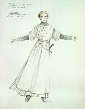"Lynn Redgrave As ""St. Joan"" Costume Sketch By Zack Brown"