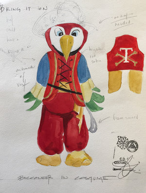 """Bring It On"" Mascot Costume Sketch By Andrea Lauer"