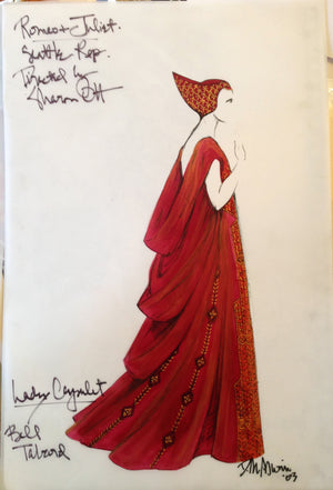 """Romeo And Juliet"" Lady Capulet Costume Sketch By David Murin"