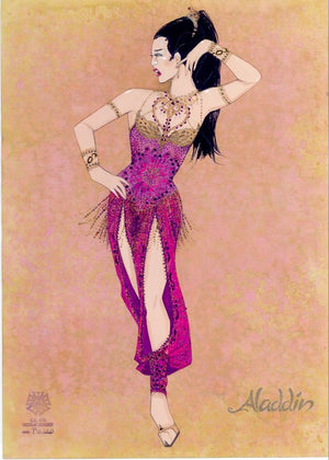 """Friend Like Me"" Female Ensemble Costume Sketch for ALADDIN by Gregg Barnes"