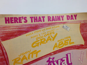 "Sheet Music Of ""Here'S That Rainy Day"""