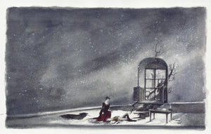 "Original Watercolor Set Sketch  For ""Werther"" By Zack Brown"