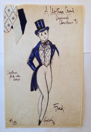 """A Christmas Carol"" Fred Costume Sketch, David Murin"