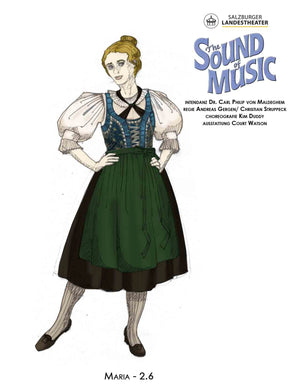 """The Sound Of Music"" -Maria Festival Costume By Court Watson"