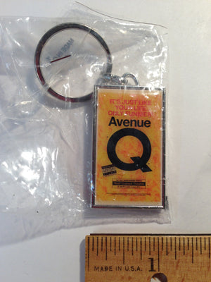 """Avenue Q"" Key Ring"