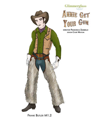 """Annie Get Your Gun"" Frank Butler Costume Sketch By Court Watson"