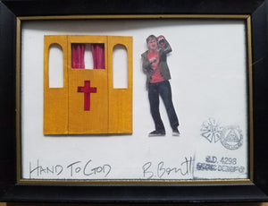 """Hand To God' Puppet Theatre Framed Model Piece - Beowulf Boritt"