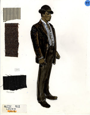 SHOW BOAT - Joe with Brown Bowler -Tony Award winning costume design by Florence Klotz