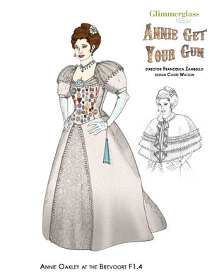 """Annie Get Your Gun"" Annie Oakley Ball Costume By Court Watson"