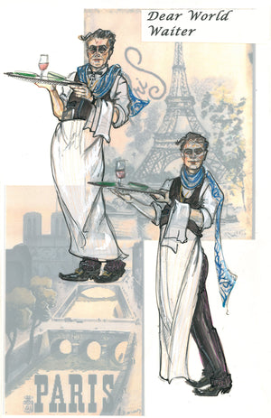 """Dear World""  London, Costume Sketch By Ann Hould Ward"