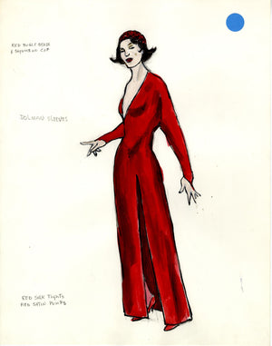 KISS OF THE SPIDER WOMAN - Aurora's Red Dress Costume Design by Florence Klotz