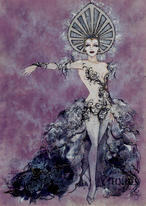 FOLLIES - Tony Award Winning Original Ghost Costume Sketch by Gregg Barnes