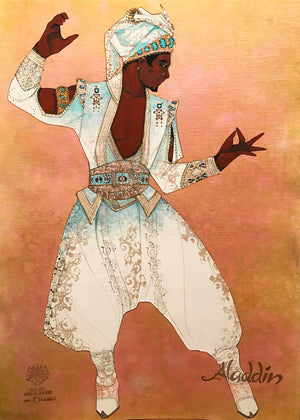 ALADDIN -  Wedding Male Ensemble Costume Sketch by Gregg Barnes