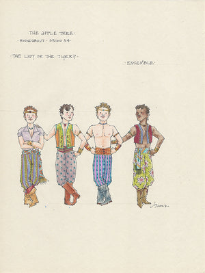 THE APPLE TREE  - 2nd Male Ensemble Original costume sketch by Jess Goldstein
