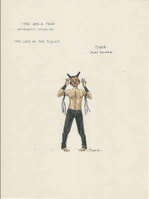 THE APPLE TREE - 'Tiger'  Original Costume color sketch by Jess Goldstein