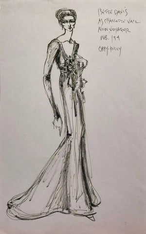 Bette Davis Costume Sketch by Donfeld