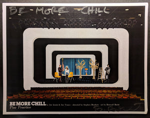 "BE MORE CHILL - Set Rendering ""Play Practice - I love play rehearsal ""  by  Beowulf Boritt"