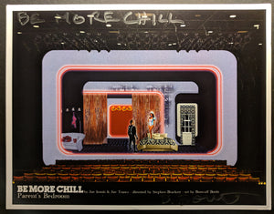 "BE MORE CHILL - Set Rendering ""Halloween- Parents' Bedroom"" by Beowulf Boritt"