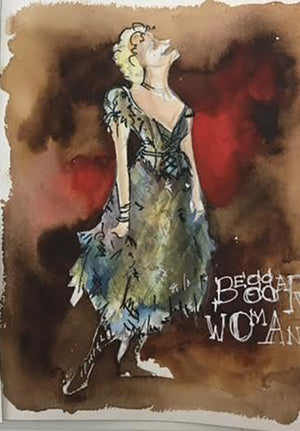 Sweeney Todd Beggar Woman Costume Sketch By Jennifer Caprio