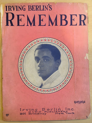 "Irving Berlin's ""Remember"" Sheet Music"