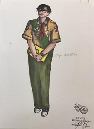"""Spelling Bee"" Chip Tolentino Costume Sketch By Jennifer Caprio"