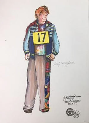 """Spelling Bee"" Coneybear Costume Sketch By Jennifer Caprio"