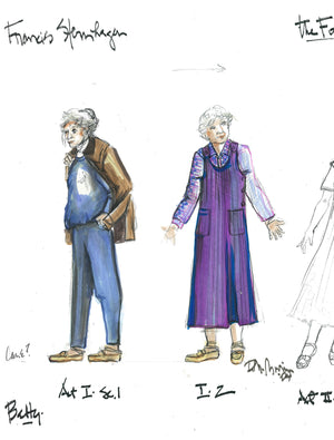 Frances Sternagen in THE FOREIGNER, Costume sketch by David Murin