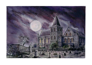 """The Mystery Of Edwin Drood"" Graveyard Print By Anna Louizos"
