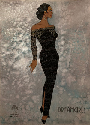 "Dreamgirls ""Listen"" Original Costume Sketch by Gregg Barnes"