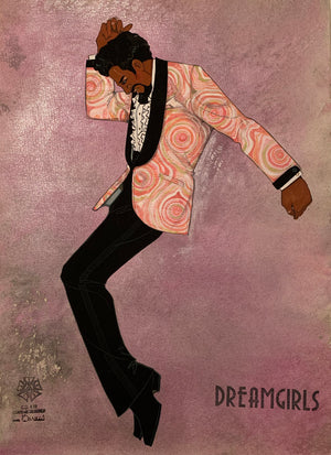 "Dreamgirls ""The Rap"" Original Costume Sketch by Gregg Barnes"