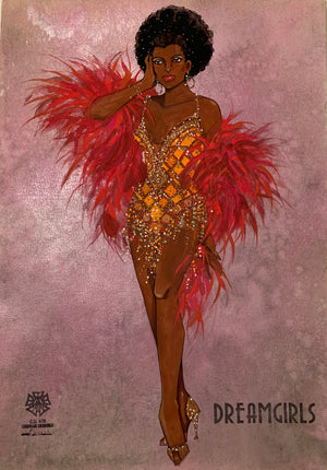 "Dreamgirls ""One Night Only"" Original Costume Sketch by Gregg Barnes"