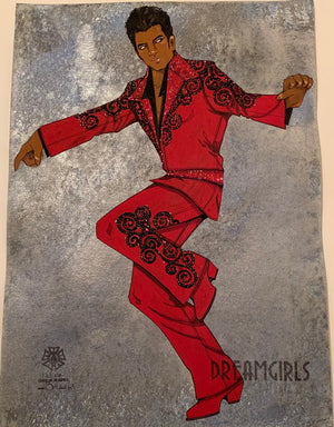 Dreamgirls Male Ensemble Original Costume Sketch by Gregg Barnes